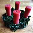 Recycling Kerzen Adventskranz